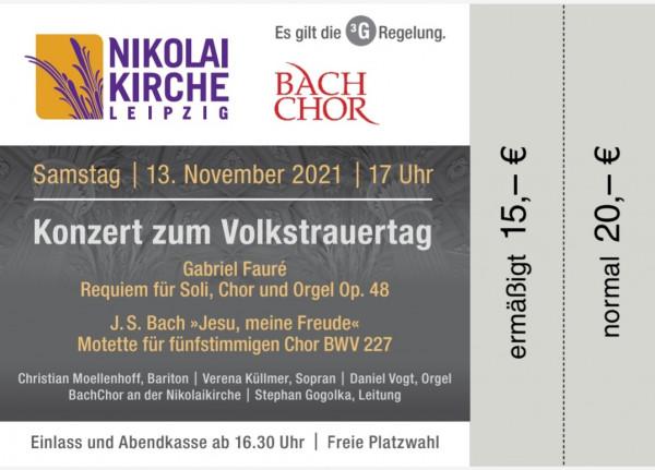 Konzert zum Volkstrauertag 13.11.2021