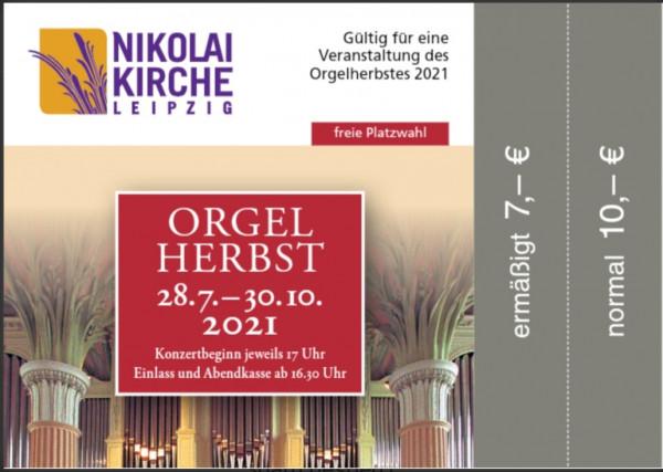 Eintrittskarte Orgelherbst 2021