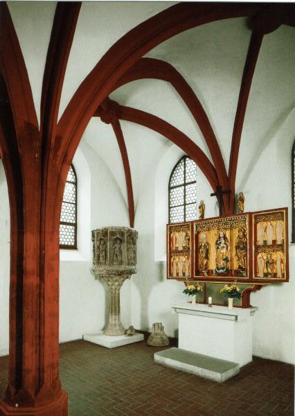 Niedergräfenhainer Altar und Lutherkanzel von 1521